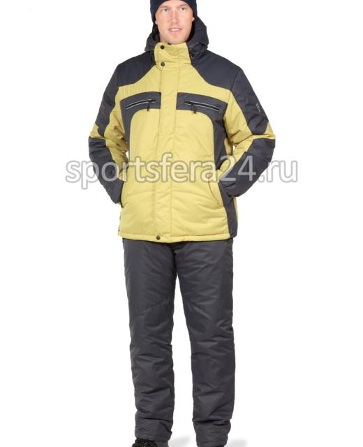 Мужской зимний костюм КТ230 горчичный/графит