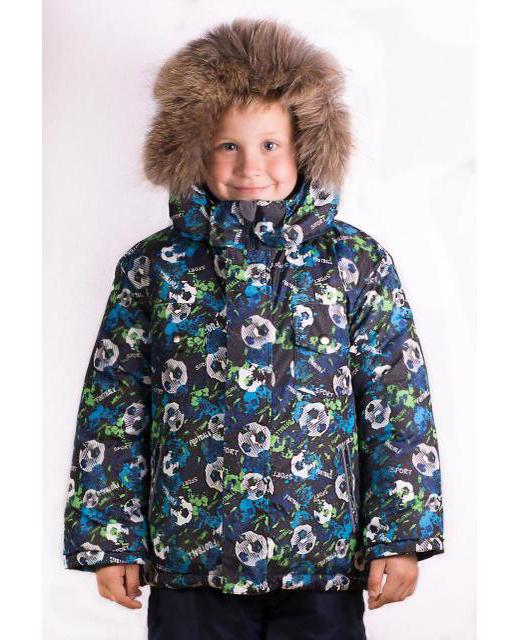 Фото мальчика в зимнем костюме с мехом