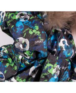 Фото зимней куртки для ребенка с натуральным мехом