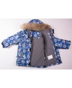 Фото зимняя детская куртка с меховой опушкой капюшона