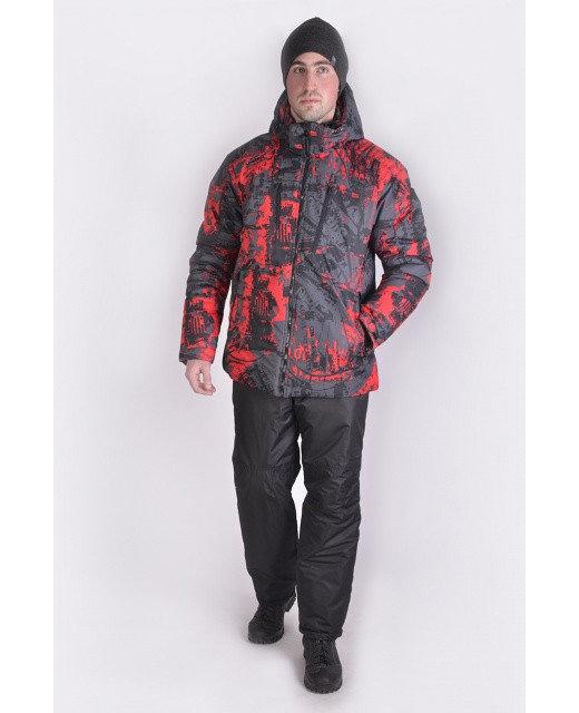 Фото мужского красно-черного зимнего костюма