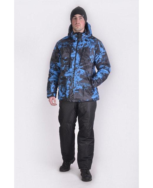 Фото мужского сине-черного зимнего костюма