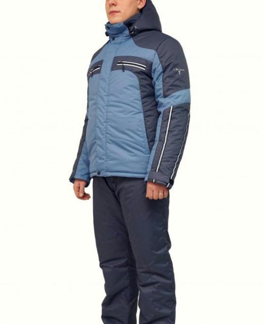 Мужской зимний костюм KT230 серый/графит фото