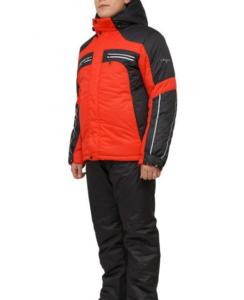 Мужской зимний костюм KT230 красный/черный фото