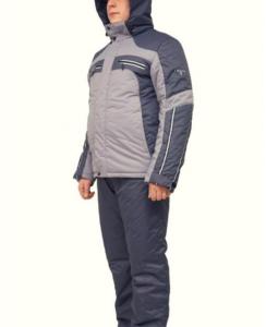 Мужской зимний костюм KT230 гсерый/графит фото