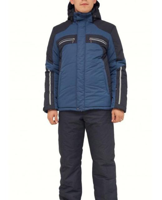 Мужской зимний костюм KT230 синий/черный фото