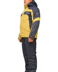 Мужской зимний костюм KT230 горчичный/графит фото