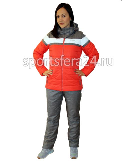 Женский зимний прогулочный костюм ATL15 коралл/графит фото