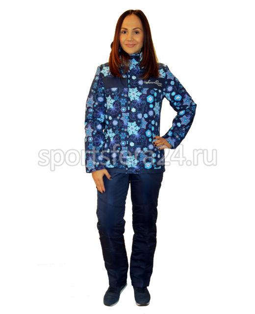 Женский зимний прогулочный костюм маг-05 голубой фото