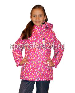 Фото малинивого зимнего комплекта для девочки