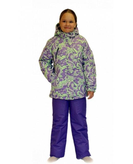 Фото девочки в зимнем комплекте мембрана до -30 градусов SL163