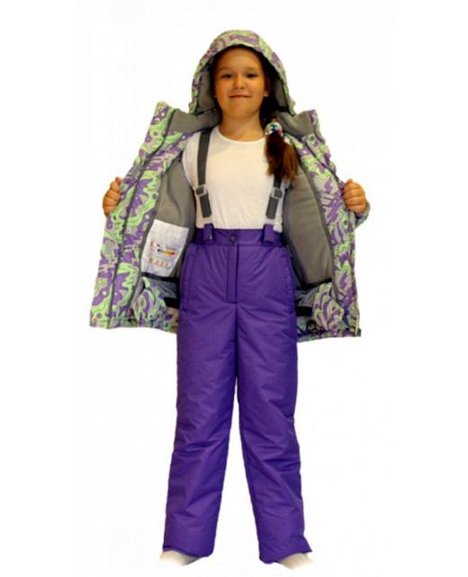 Фото зимнего комплекта для девочки мембрана до -30 градусов SL163
