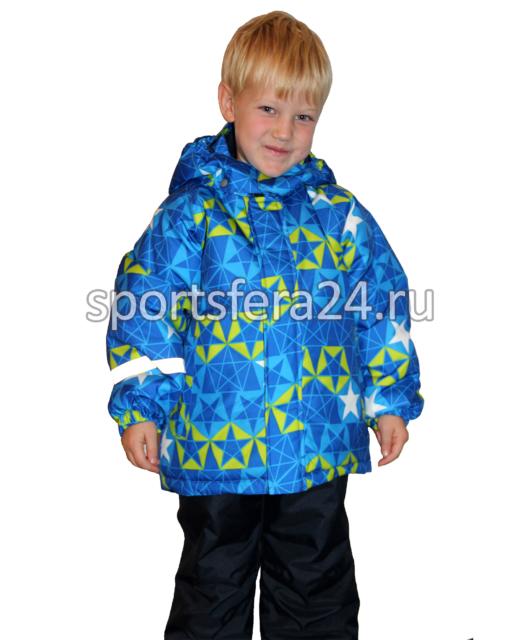 Фото детского зимнего костюма с голубым принтом