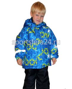 Фото детского зимнего костюма с голубым принтом до -20 градусов