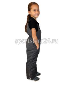Высокий детский зимний полукомбинезон, вид сбоку