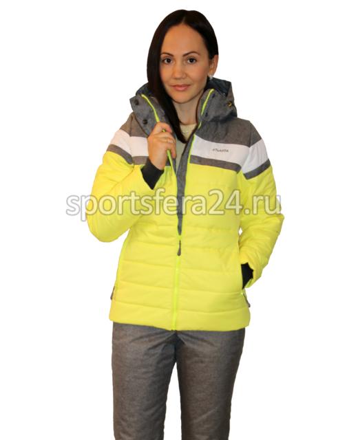Фото костюма зимнего прогулочного ATL15 желтый/серый