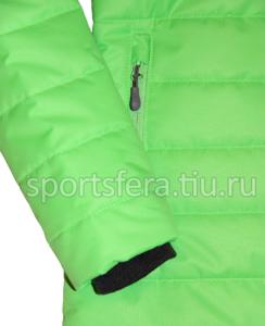 Фото трикотажный манжет зимней женской куртки