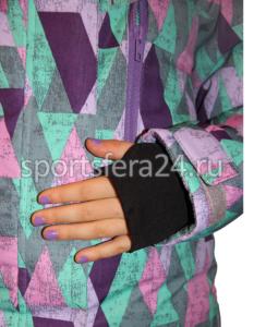 Фото трикотажный манжет внутри рукава+манжет на липучке для регулировки объема
