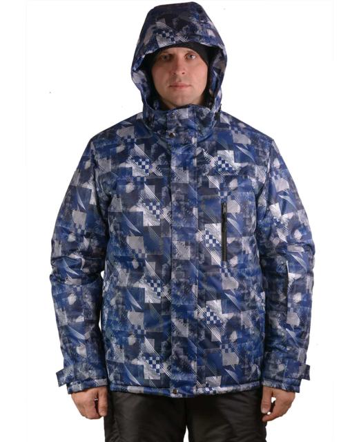 Зимний мужской костюм Айсберг синий фото