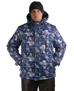 Зимняя мужская синяя куртка Айсберг фото