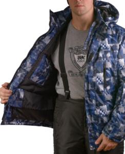 Мужская зимняя куртка Айсберг, мембрана, до -25 градусов, фото