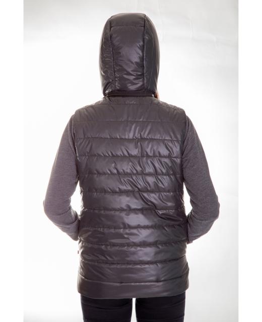 Жилет женский утепленный стеганный (черный)