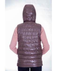 Жилет женский утепленный стеганный (шоколад)