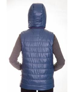 Жилет женский утепленный стеганный (синий)