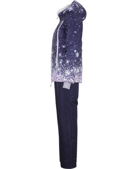 Костюм зимний женский модель 11178 принт «Ð·Ð²ÐµÐ·Ð´Ð½Ð°Ñ ночь»