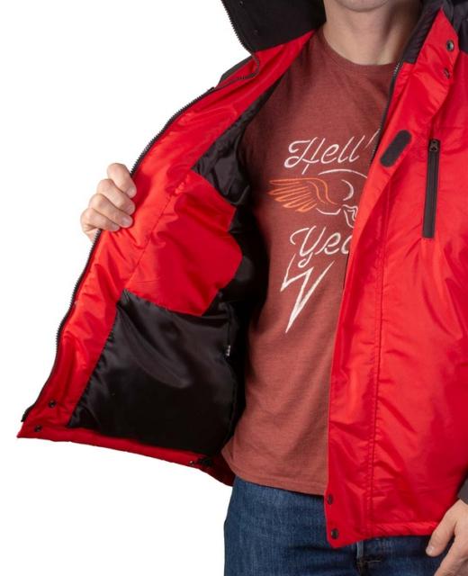 Куртка демисезонная мужская Шторм (красный)